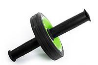Ролик для пресса (резиновые ручки) (резиновые ручки) зеленый
