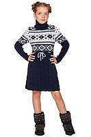 Замечательная туника с красивым зимним узором для девочек 128-152р