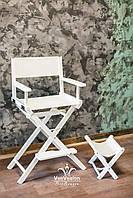 Стул для макияжа, барный стул, Модель Р1 белый, фото 1