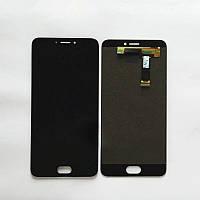 Дисплей (экран) для Meizu MX6 мейзу + тачскрин, цвет черный