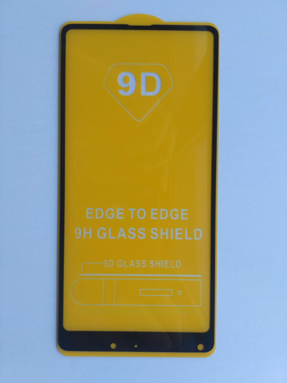 Защитное стекло Full Glue для Xiaomi Mix 2s / 2 с черной рамкой