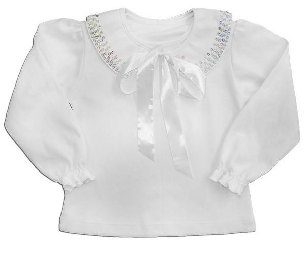 """Блуза для девочки """"Мерцающий воротник"""""""