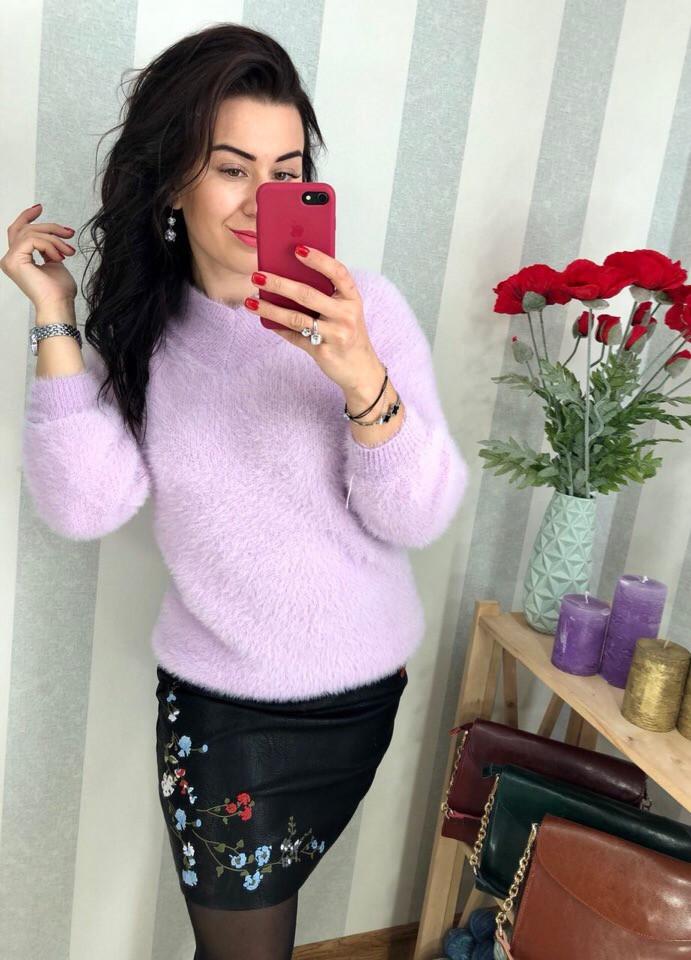 Женский мягкий и пушистый свитер РАЗНЫЕ ЦВЕТА(Фабричный Китай ) Код 0203