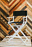 Высокий стул для визажиста, барный стул, Модель Р1 белый