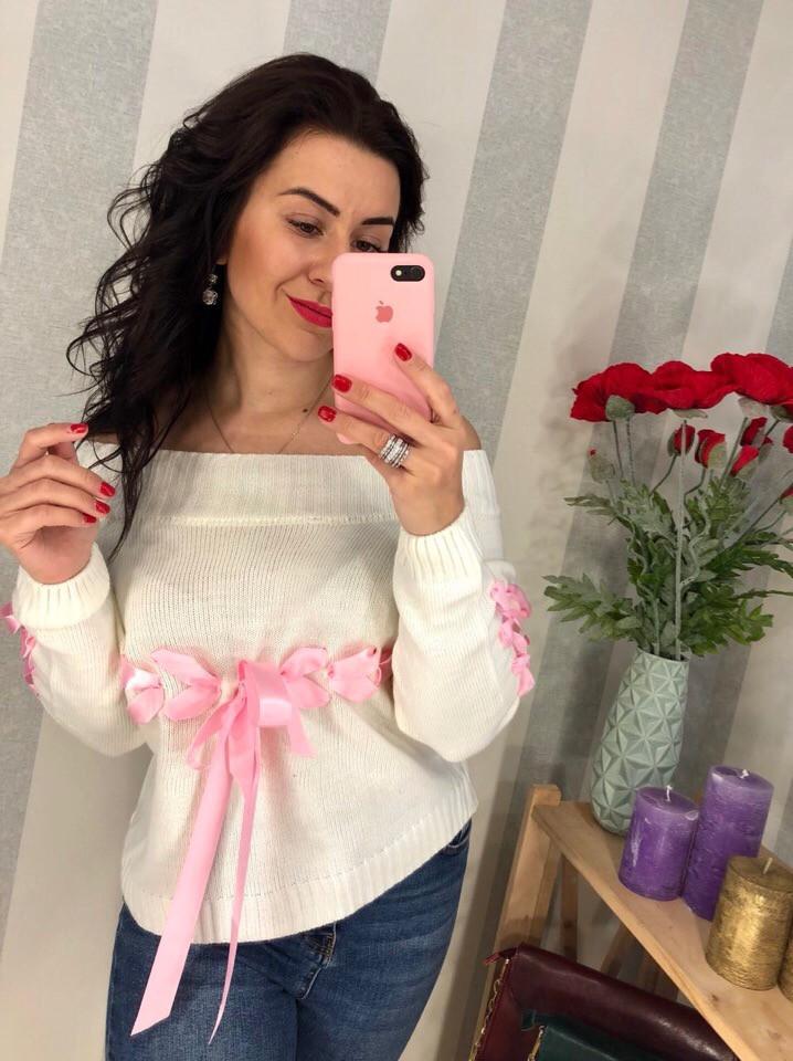 Женский стильный свитер РАЗНЫЕ ЦВЕТА(Фабричный Китай ) Код 0200