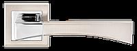 Дверные ручки MVM Z-1257 SN-CP матовый никель/полированный хром