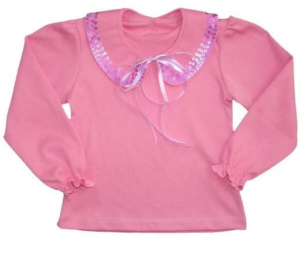 """Блуза для девочки """"Мерцающий воротник"""", цвет: розовый, рост 98"""