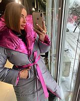Двухстороннее пальто-одеяло женское
