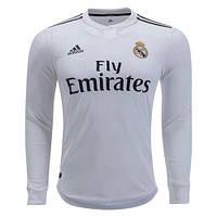 Футбольная форма Реал Мадрид домашняя с длинным рукавом (2018-2019), Adidas, c3aac98e7c4