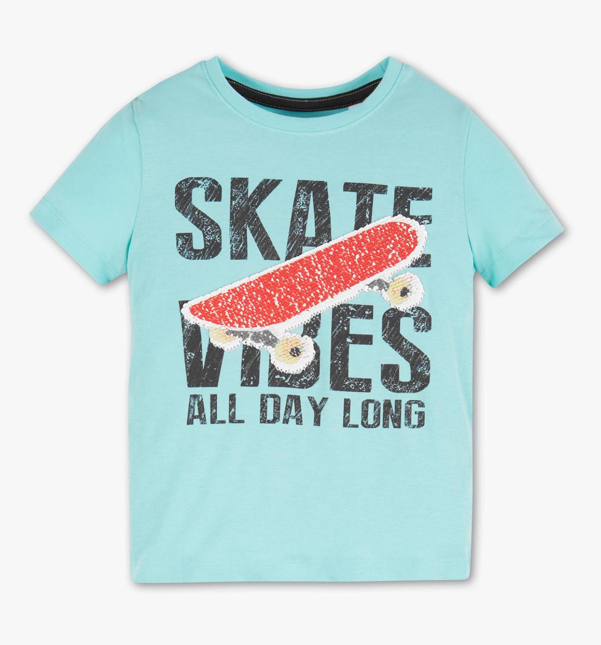 Детская футболка для мальчика с пайетками перевертышами C&A Германия Размер 122