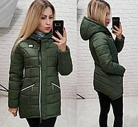 Теплая куртка на зиму (хаки)