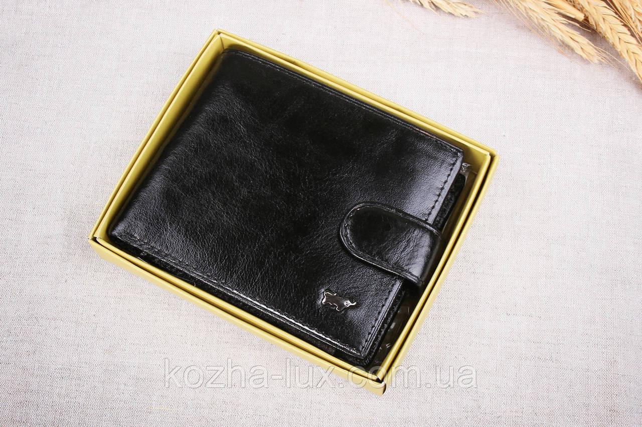 Тонкое классическое чёрное портмоне Braun Buffel 1_658, натуральная кожа