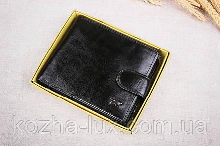 Тонкое классическое чёрное портмоне Braun Buffel 1_658, натуральная кожа, фото 2
