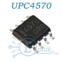 UPC4570, двухканальный операционный усилитель, SOP8