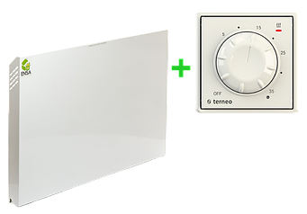 Настенный ИК обогреватель ENSA P500 (500Вт 10м2) c терморегулятором Terneo Rol