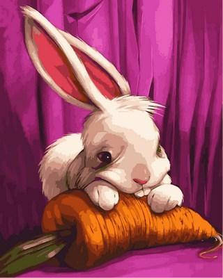 Игра Картины по номерам (MR-Q2106) Милый зайчонок, фото 2
