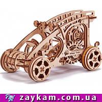 Багги 00004 - деревянный 3D пазл Wood trick (механический деревянный конструктор)