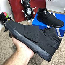 Мужские весенние кроссовки Adidas Tubular черные