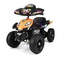 Детский квадроцикл на аккумуляторе M 2403 ALR-7 надувные колеса, мягкое сиденье