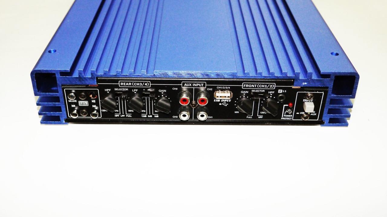 Автомобильный усилитель звука Kenwood MRV-1907U + USB 4000Вт 4х канальный