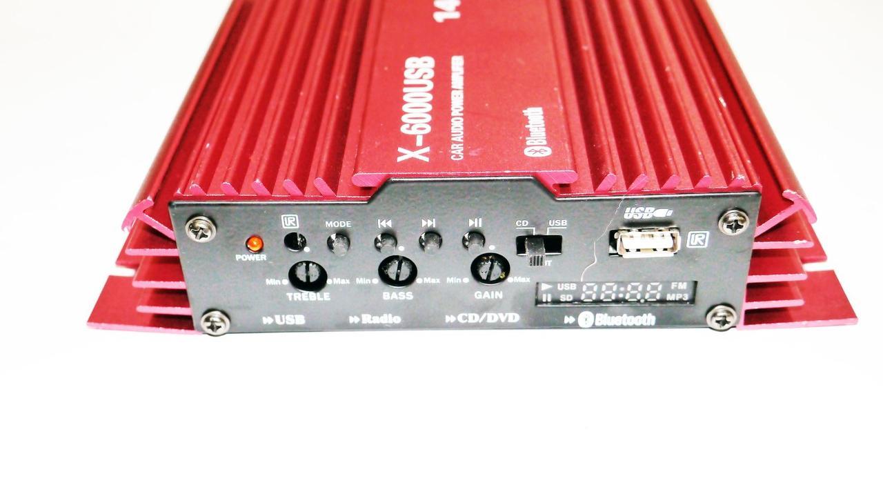 Усилитель X-6000USB - Bluetooth, 2 х канальный