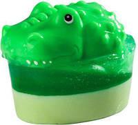 Глицериновое детское мыло Крокодил / Большая игрушка, 80 г