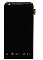 Дисплей (экран) для LG H820 G5, H830, H850, LS992, US992, VS987 + тачскрин,черный, с передней панелью