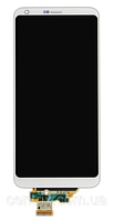 Дисплей (экран) для LG H870 G6, H871, H87, H873, LS993, US997, VS998 + тачскрин, белый, оригинал