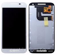 Дисплей (экран) для Motorola XT1540 Moto G3, XT1541, XT1544, XT1548, XT1550 + тачскрин, цвет белый
