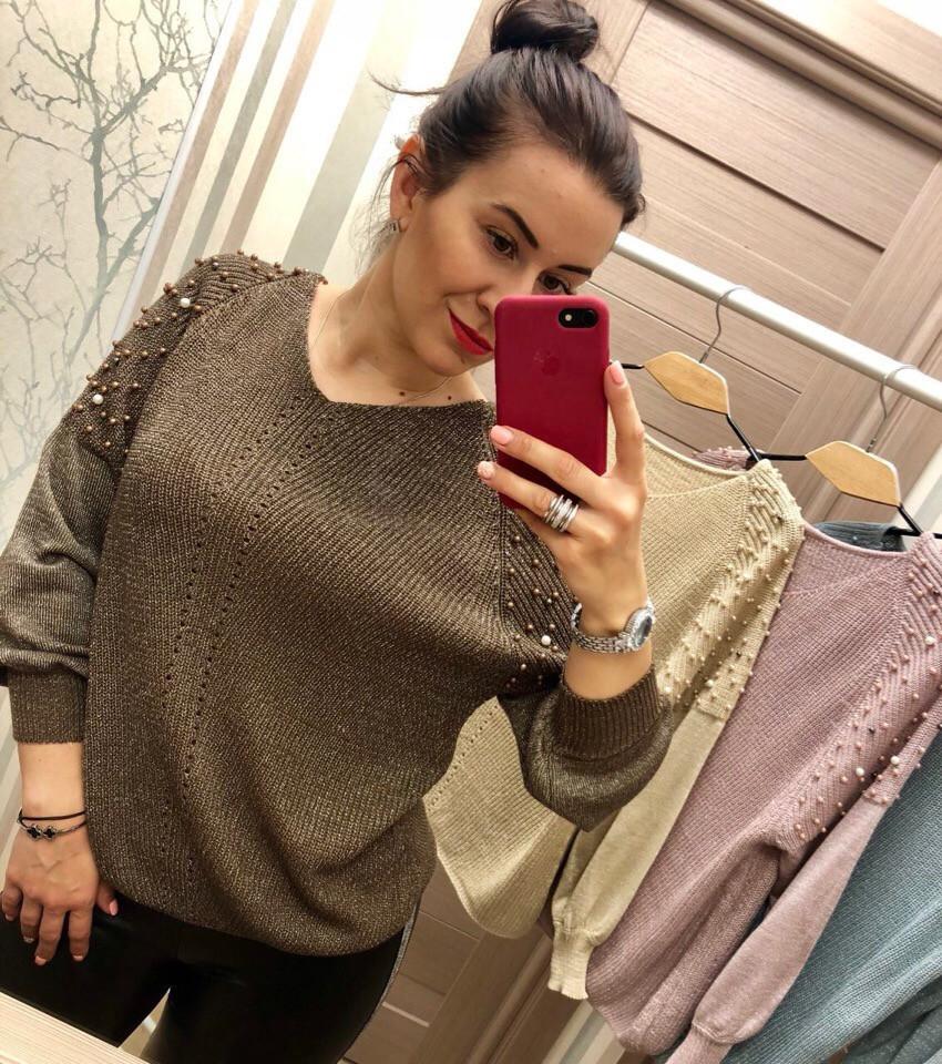 Женский очаровательный свитер РАЗНЫЕ ЦВЕТА(Фабричный Китай ) Код 0148