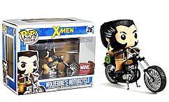 Фигурка Funko Pop Фанко Поп X-Men Wolverine`s Motorcycle Люди-Икс Россомаха на мотоцикле 10 см XM  W26