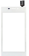 Тачскрин (сенсор) для Sony D2302 Xperia M2 Dual Sim S50h, D2303, D2305, D2306, белый