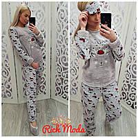 Пижама Теплая Женская Махровая — Купить Недорого у Проверенных ... 430ffed62e4dd