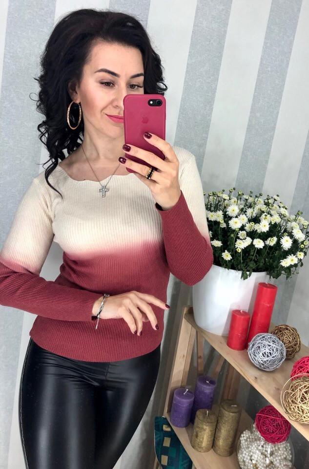 Женский оригинальный свитер РАЗНЫЕ ЦВЕТА(Фабричный Китай ) Код 0182