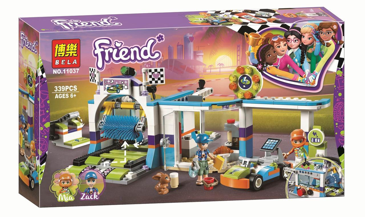 """Конструктор Bela 11037 """"Автомойка"""" (аналог Lego Friends 41350), 339 дет"""