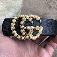 Gucci Belt Double G Pearl Black