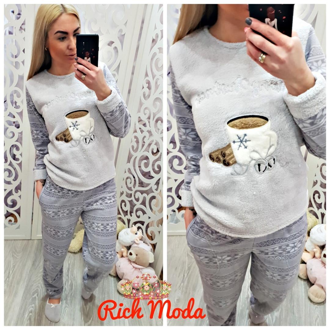 3d934dc3173a6 Тёплая махровая пижама кофта и брюки Турция — купить недорого в ...