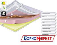 Ортопедический матрас Монтре Dz-mattress, матрас ортопедический с кокосовой койрой и пеной Memory