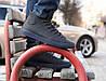 Мужские кожаные кеды кроссовки ботинки Forester  синие 43 размер на мембране