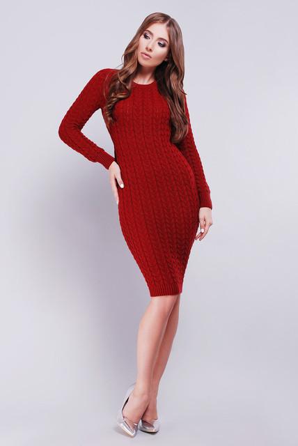 Вязаные платья, туники размеры 42-50
