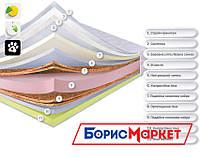 Ортопедический матрас Делемон Dz-mattress, матрас ортопедический с пеной Memory, кокосовой койрой и латексом