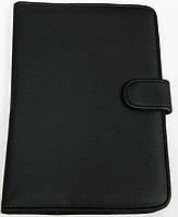 Чехол для планшетов с диагональю 7 дюймов чёрный сделанный из искусственной кожи внутри замшевый , фото 1