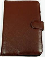 Чехол для планшетов с диагональю 7 дюймов коричневый сделанный из искусственной кожи внутри замшевый , фото 1