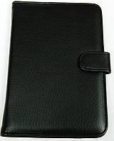 Чехол для планшетов с диагональю 7 дюймов чёрный сделанный из искусственной кожи внутри замшевый, фото 1