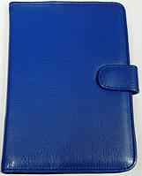 Чехол для планшетов с диагональю 7 дюймов синий сделанный из искусственной кожи внутри замшевый , фото 1
