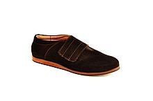 Туфли подростковые для девочки на липучке замшевые черный 732102