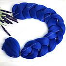 💙 Канекалон 100 см. синий, длинный метровый 💙, фото 7