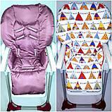 Двосторонній чохол на стілець для годування Chicco Polly, фото 9