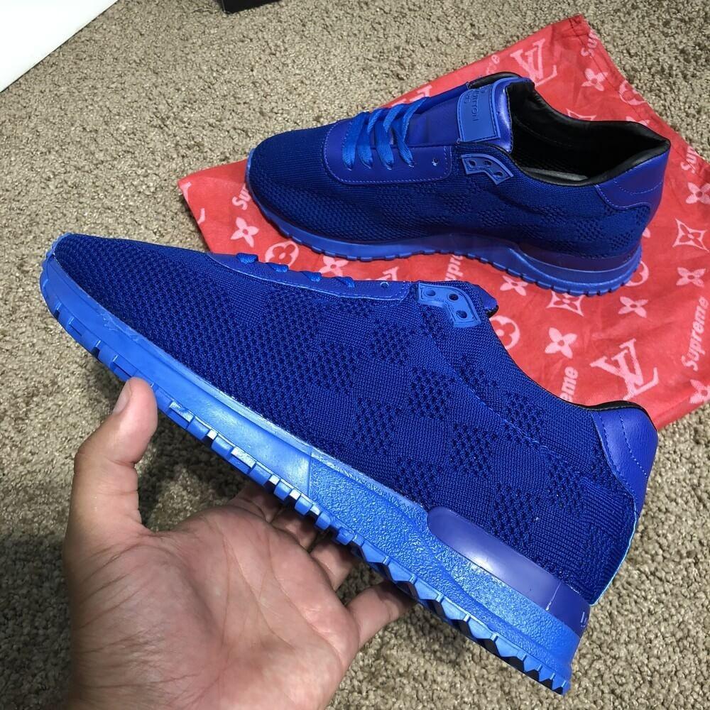 Louis Vuitton Run Away Sneakers Blue