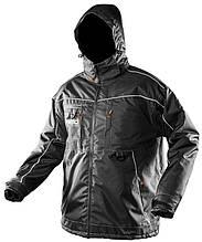 Куртка рабочая NEO Oxford, размер XXL, водостойкая, светоотраж.элем, утеплена, отстег. капюшон, высокая стойка, кулисы, CE